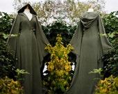 Custom order for Jera ~ Floor Length Haunted Hawtin Coat - Long Moss Green Coat - Custom made to order - Halloween - Samhain- Fall -
