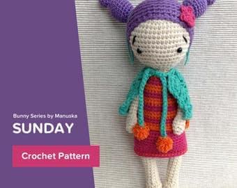 Sunday | Crochet Doll Pattern, Amigurumi Pattern, Pdf Pattern