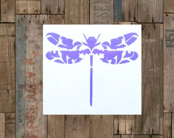 Dragonfly Vinyl Decal-Sticker-Custom Decal-Personalized Size-laptop decal,Yeti decal,Car Window Sticker,Phone decal,Tablet-Label-60+ colors!