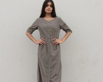 Corduroy maxi dress 90s