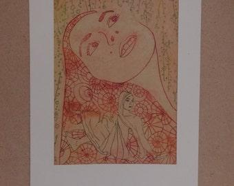 Robin II, Original Solar Etching Print