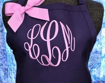 Personalized Apron Monogrammed Initials Monogram Wedding Gift