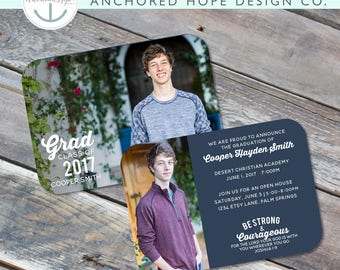 Graduation Announcement   Christian   High School Graduation   College Graduation   Open House Invitation   Multi Photo