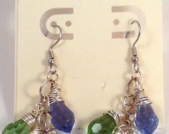 Crystal Earrings, Dangle Earrings, Drop Earrings, Dangles, Crystal Dangles, Earrings,Silver Earrings, Statement Earrings,Handmade Earrings