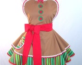 Reserved Listing for Ms. E, Christmas Apron Gingerbread Men Gingerbread Girl