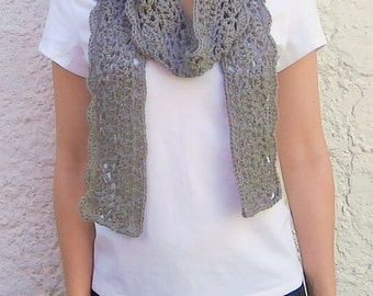 Crochet lace scarf with scalloped edge pattern  Crochet scarf pattern // MADISON scarf crochet Pattern _ M52