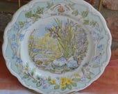 Royal Doulton The Picnic Plate - Brambly Hedge - English China - Vintage - Gorgeous!