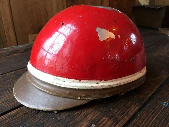 Vintage Motorcycle Crash Helmet, The Clymer Crash Helmet, Clymer Los Angeles, Made in France