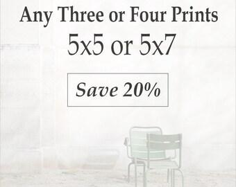Set of 5x5 or 5x7 Prints - Paris Prints, Paris Photography, Photo Collection, Gallery Wall, Discount Paris Set, Photo Gift Set