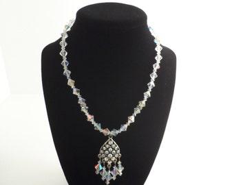 Swarovski Aurora Borealis Crystal Necklace