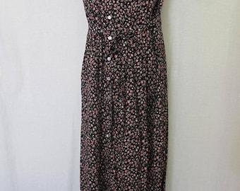 Hippie Dress Boho Dress Floral Rayon Dress Sleeveless Summer Dress