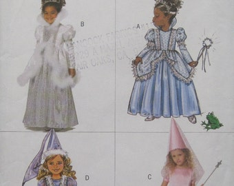 Butterick B4630. Easy Princess Costumes for your Little Princess. Sizes 2-3-4-5.  Pattern is new and uncut.
