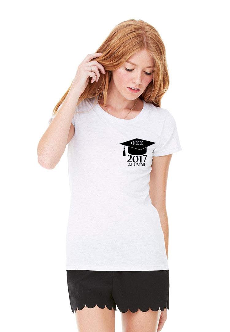 Sorority Graduation Gift, Graduation Shirt, Alumni Shirt, 2017 Grad Gift, College Graduation, Customize Sorority
