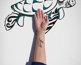 Turtle Temporary Tattoo/Wild Animal Temporary Tattoo/Animal Temporary Tattoo/Tortoise Temporary Tattoo/Body Tattoo/Leatherback Tattoo