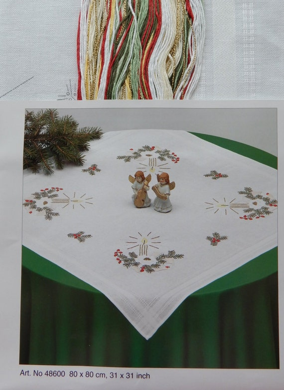 Christmas Tablecloth Embroidery Kit