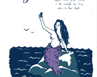 Selkie folklore Screenprint