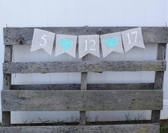 Save the Date Banner, Wedding Banner, Save the Date Sign, Engagement Banner, Wedding Date Banner, Photo Prop, Bridal Shower Decor