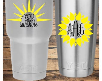 You Are My Sunshine or Sunflower Decal