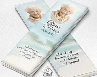Obituary bookmark | Etsy