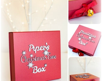 Personalised Christmas Eve Box - Family Christmas Eve Box - Gold Bell