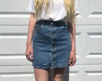 90s Calvin Klein denim skirt size small