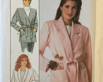 VTG 8803 Simplicity (1988) misses' easy to sew unlined jackets.  Size 6-8-10-12.  Complete, unused, Factory folded.  Excellent condition.
