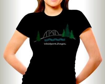 His or Hers Waldport Oregon T-shirts,Waldport Oregon,Oregon T-shirts,Waldport Bridge shirts,Alsea Bay, Oregon Fishing, Oregon clothing,