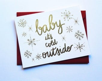 Baby It's Cold Outside | Funny Christmas Card | Funny Holiday Card