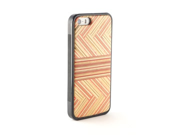 Iphone 5 Wood Case - Recycled Skateboards - iPhone 5S Wood Cover - iphone 5SE wood - Wooden iPhone 5 Case - Hardwood Iphone Case - Pink