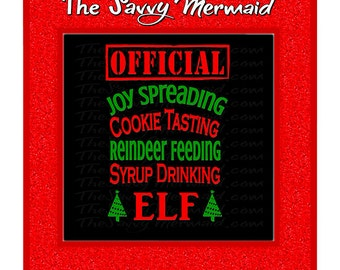 Christmas Elf SVG Cut file- Funny Syrup- Spread Christmas Cheer Svg- Team Santa Reindeer Svg- Cricut Vinyl shirt- Silhouette Studio Htv DXF