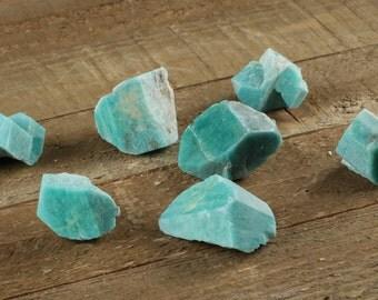 1 Medium Rough AMAZONITE Crystal - Raw Amazonite Stone, Raw Crystal, Healing Stone, Chakra Stone, Healing Crystal for Wire Wrap E0090