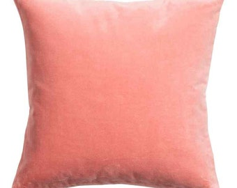 Peach Cotton Velvet cushion cover