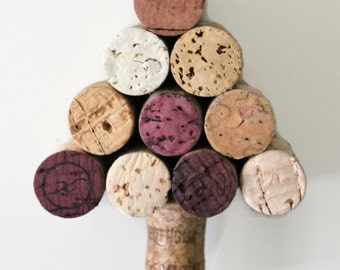 rustic Christmas ornament - rustic ornament - wine gifts - wine cork ornament - wine cork Christmas tree ornament - cork Christmas tree