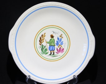 Taylor, Smith & Taylor, Handled Platter w/Dutch Peasant