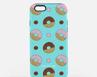 Cute Phone Case Donut iPhone Device Cases Gift For Girlfriend Her Happy Donuts Food Foodie Kawaii Gifts Ideas 7 6 Plus 6s 5 5s Galaxy s6 s5