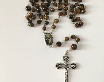 Catholic Brown Saint Anthony of Padua Rosary