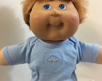 "Cabbage Patch 16 inch Kids BOY Top ONLY 4.00 Dollars, ""MATCHBOX Car"" Blue Top, 16 inch CPKids Boy Doll & Bitty Baby, Top Only- 4.00 Dollars"