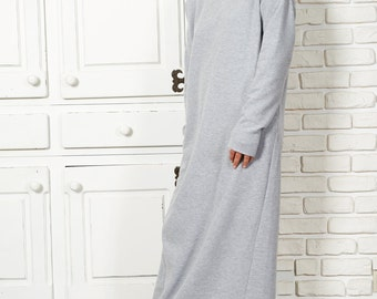 Kaftan Maxi Dress, Oversized Sweater Dress, Cotton Dress, Spring Clothing, Womens Sweater Dress, Long Sleeve Dress, Casual Dress, Day Dress