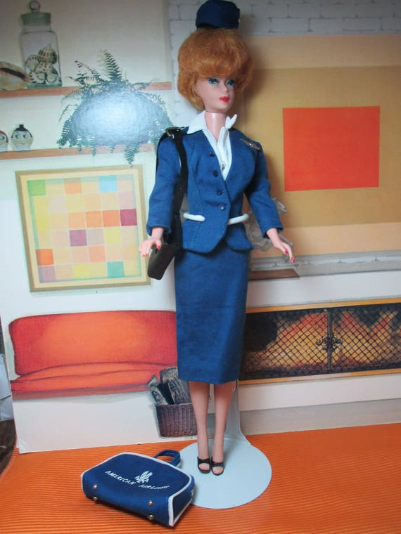 Vintage Barbie American Airlines Flight Stewardess Outfit 984 1961-1964
