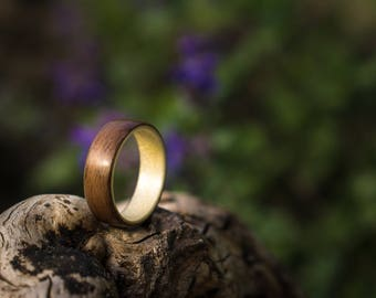 Mens wood wedding ring, Rosewood and maple bentwood ring, Womens wood ring, Wood rings, Bentwood ring, Wood wedding ring, Handmade wood ring