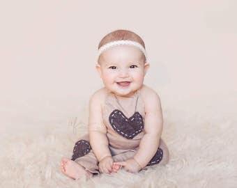 Christening Headband, Baptism Headband, Baby girl Headband, Newborn Headband, Flower Girl Headband, White Lace Headband, Newborn Photo Prop
