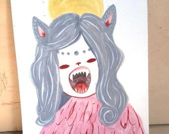 Pink Katauros - A5 Original Gouache Painting