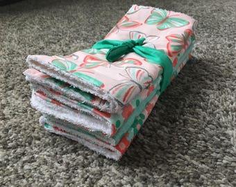 Baby Burp Cloths, gift, handmade, baby gift, baby shower gift