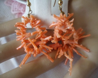 Vintage Earrings made from Coral