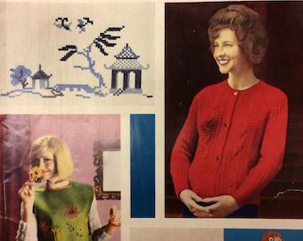 Vintage retro knitting sewing crochet patterns magazine Needlewoman and Needlecraft No112 1967