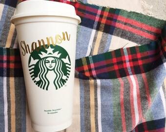 Starbucks Tumbler, Personalized Starbucks Cup, Gift for Bridesmaid, Christmas Mug, Wedding or Birthday, Teacher Christmas Gift, Holiday Mug