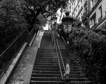 Escaliers Montmartre, Romantic Streets, Paris Photography