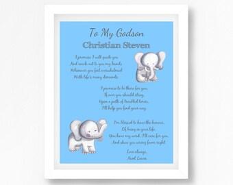Gift for Godson, Personalised Godson Gift, Gift from Godparents, Christening Gift for Godson, Godson Baptism Gift, Unique Godson Gift