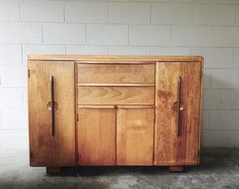 Mid Century Modern sideboard – rustic modern credenza – retro cabinet