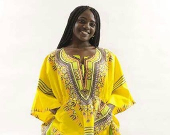 African Clothes, Angelina Butterfly sleeves Dashiki